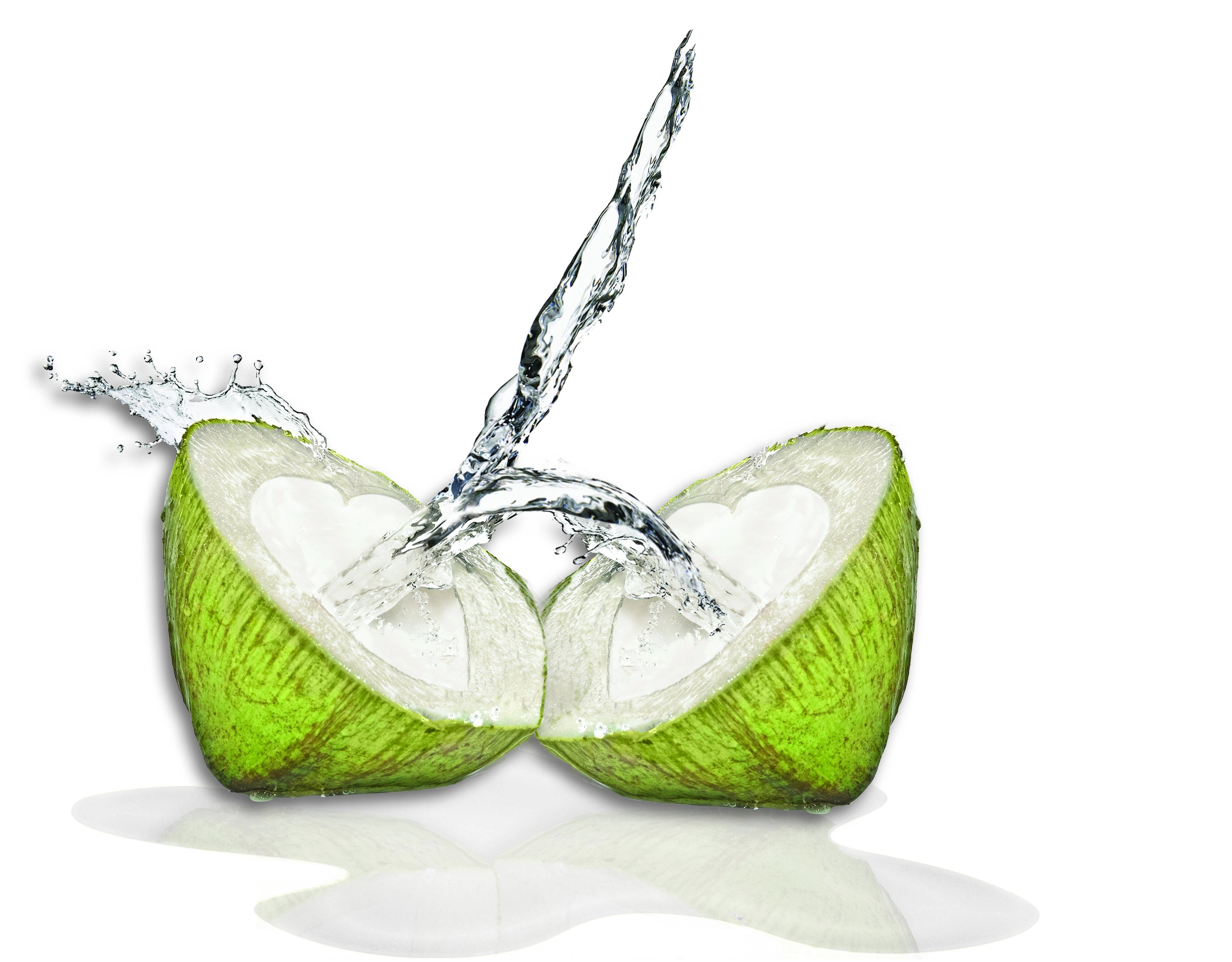 Coconut water is best straight from the coconut